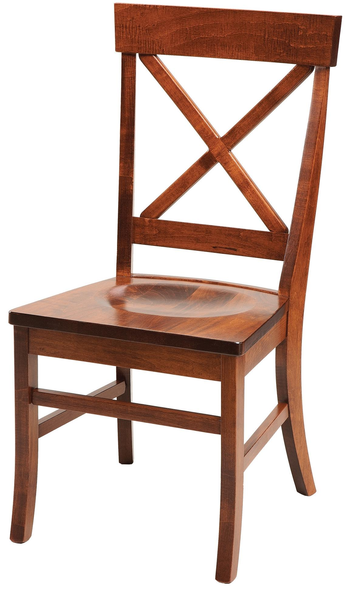 Daniel 39 s amish chairs and barstools x back dining side for X back dining room chairs