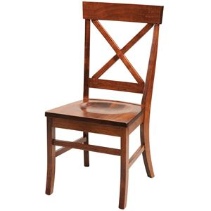 Daniel's Amish Chairs and Barstools X-Back Side Chair