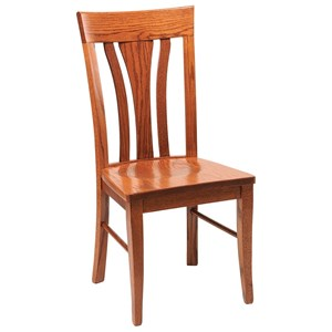 Daniel's Amish Chairs and Barstools Tulip Back Side Chair