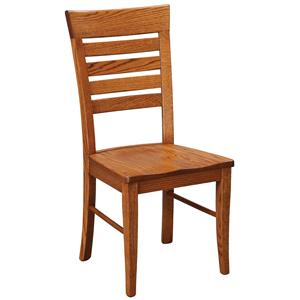 Daniel's Amish Chairs and Barstools Metro Ladder Side Chair
