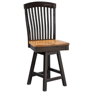 Daniel's Amish Chairs and Barstools Empire Swivel Counter Chair