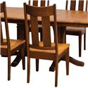 Daniel's Amish Chairs and Barstools Tampa Side Chair - Item Number: 13-7501