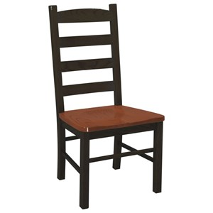 Danielu0027s Amish Chairs And Barstools Ladder Back Side Chair