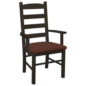 Daniel's Amish Chairs and Barstools Ladder Back Arm Chair