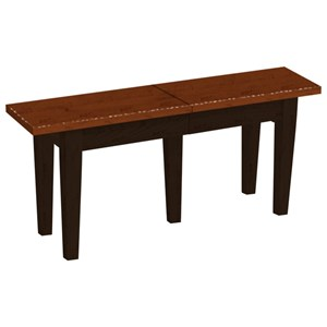 Daniel's Amish Chairs and Barstools Solid Top Extendable Bench