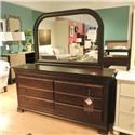 Daniel's Amish Clearance 8 Drawer Dresser w/ Mirror - Item Number: 354638309