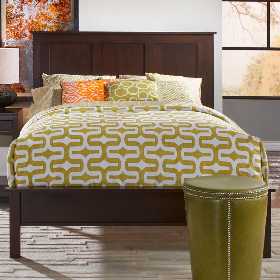 Queen Solid Cherry Panel Bed