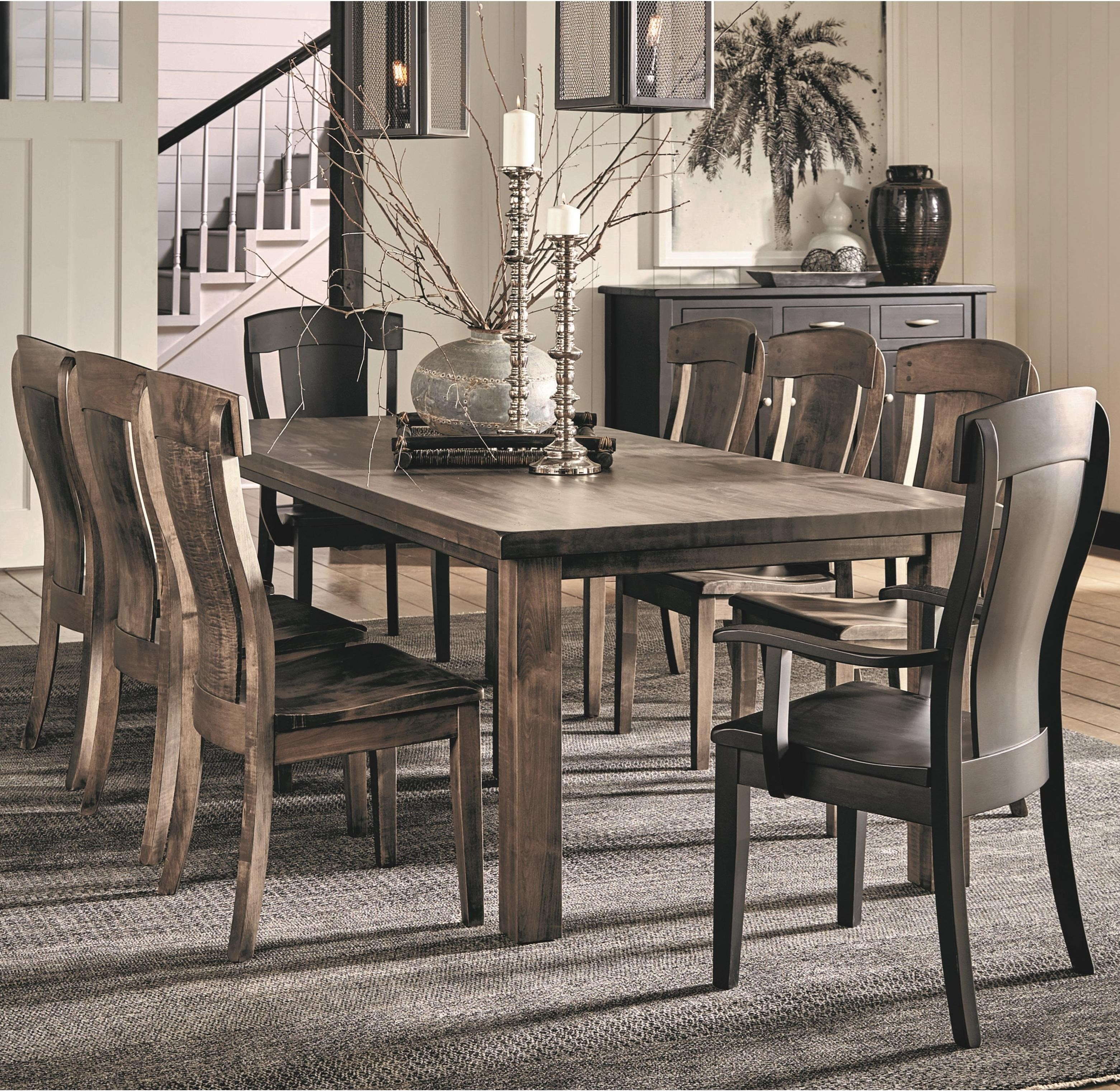 Eastchester 9 Piece Table and Chair Set by Daniel's Amish at Belfort Furniture
