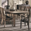 Daniel's Amish Eastchester Dining Table - Item Number: 42720T+B-EAS-E7-PL7-41-108W