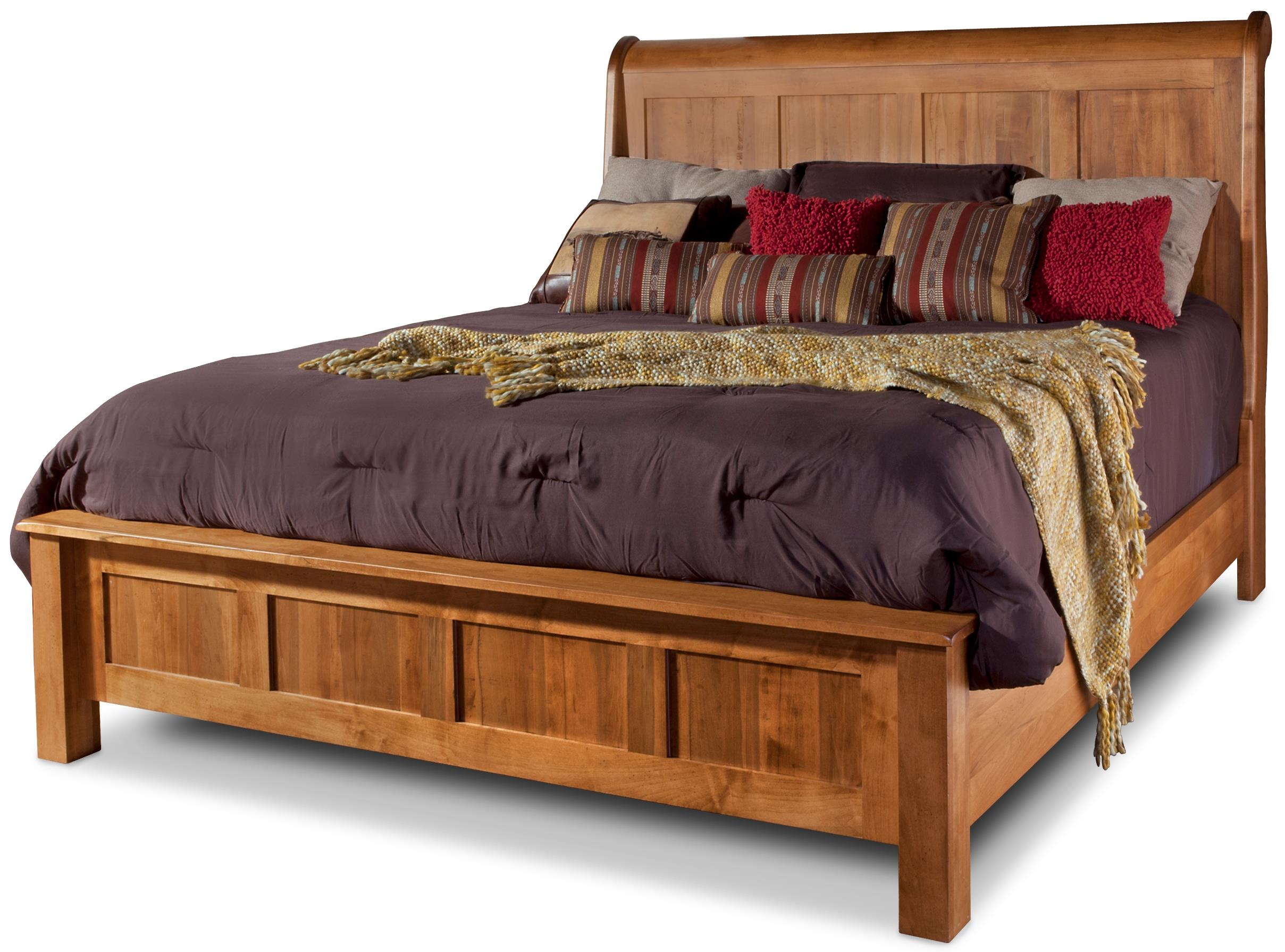 Daniel's Amish Lewiston King Sleigh Bed - Item Number: 30-4414+34+04