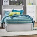 Daniel's Amish Mapleton CaliKing Pedestal Bed w/ 2 Drawers Each Side - Item Number: 30-5015+32-5075+32-5095+32-5025