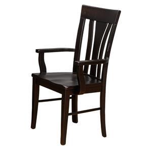 Danielu0027s Amish Millsdale Tulip Arm Chair
