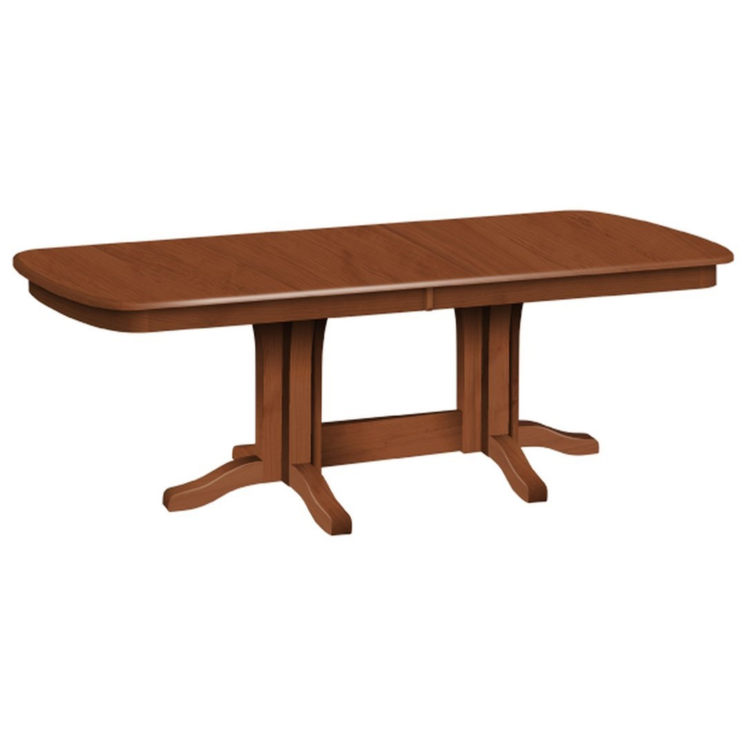 Solid Wood Dining Table By H F: Daniel's Amish Millsdale Customizable Solid Wood Millsdale