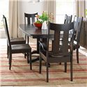Daniel's Amish Millsdale Table and Chair Set - Item Number: 427240514+2x137502453+4x137501039