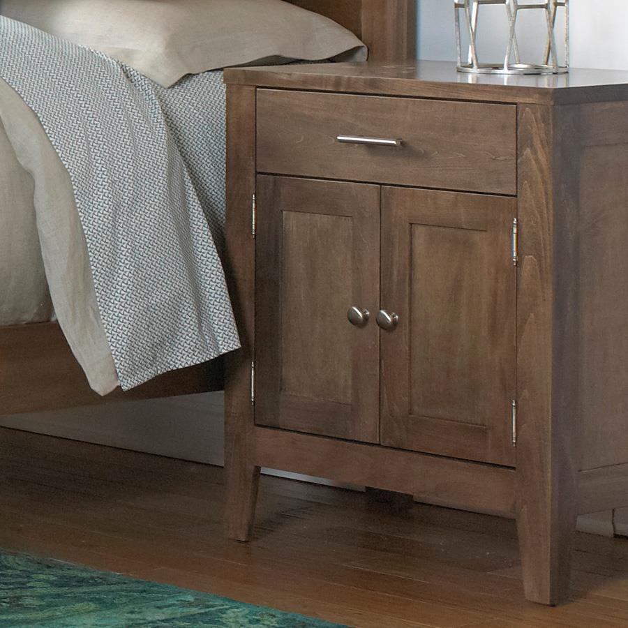 Nightstand with 1 Drawer, 2 Doors