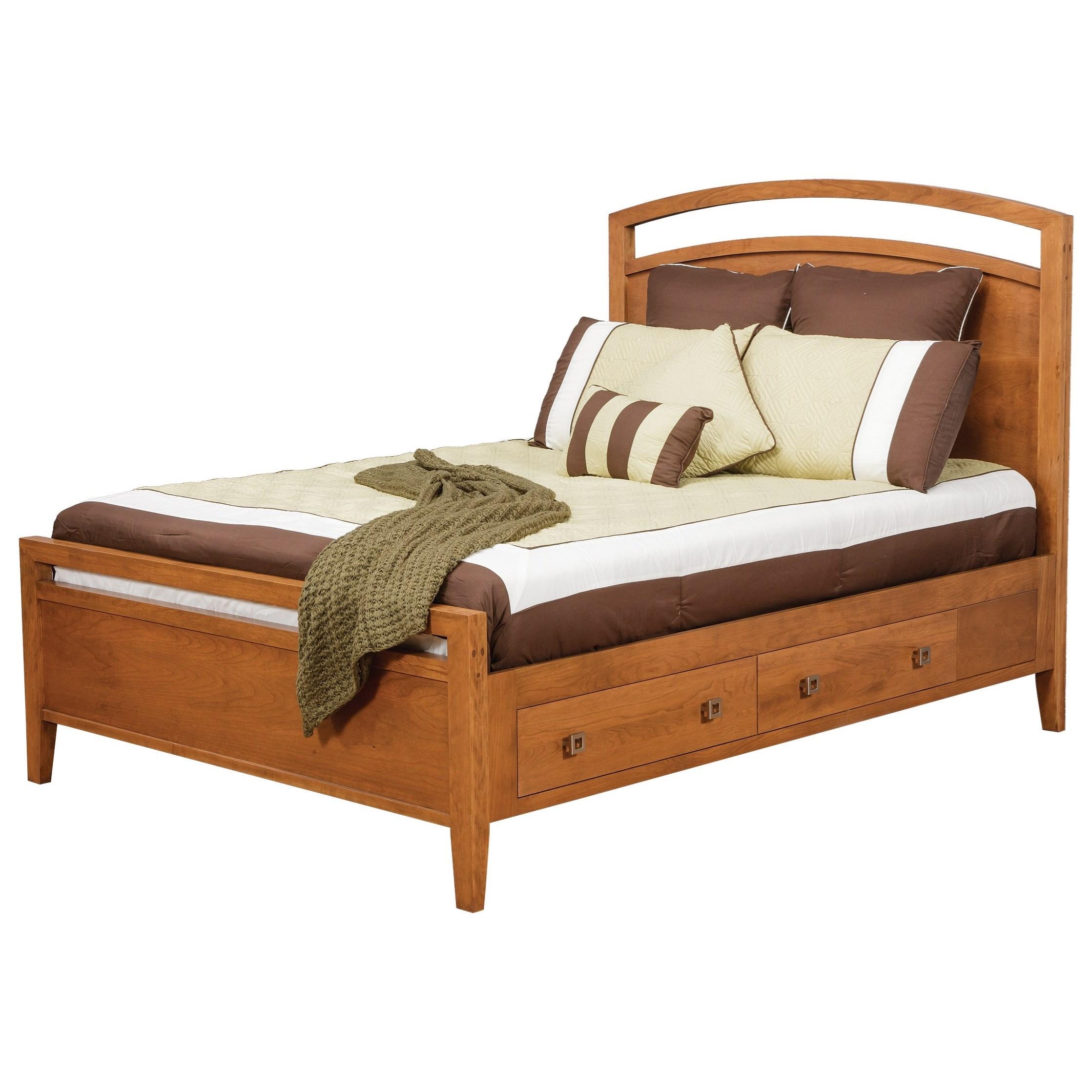 Daniels Amish Nouveau Twin Supreme Pedestal Storage Bed