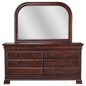 Daniel's Amish Paris Dresser and Mirror Combo