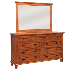 Daniel's Amish Regal Dresser and Mirror Set