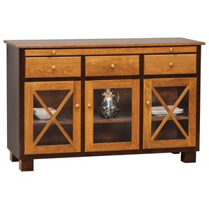 Daniel's Amish Dining Storage Millsdale Server