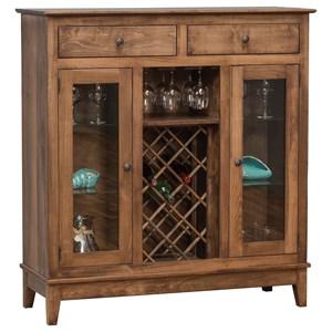 Daniel's Amish Dining Storage Shaker Wine Cabinet