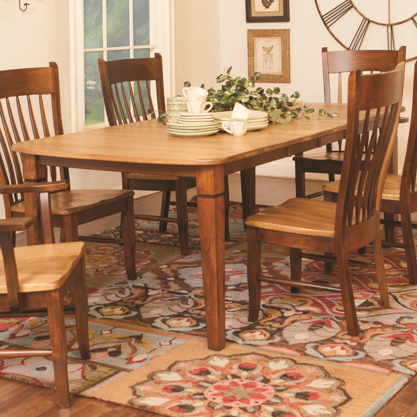 Daniel's Amish Tables Distressed Rectangular Dining Table