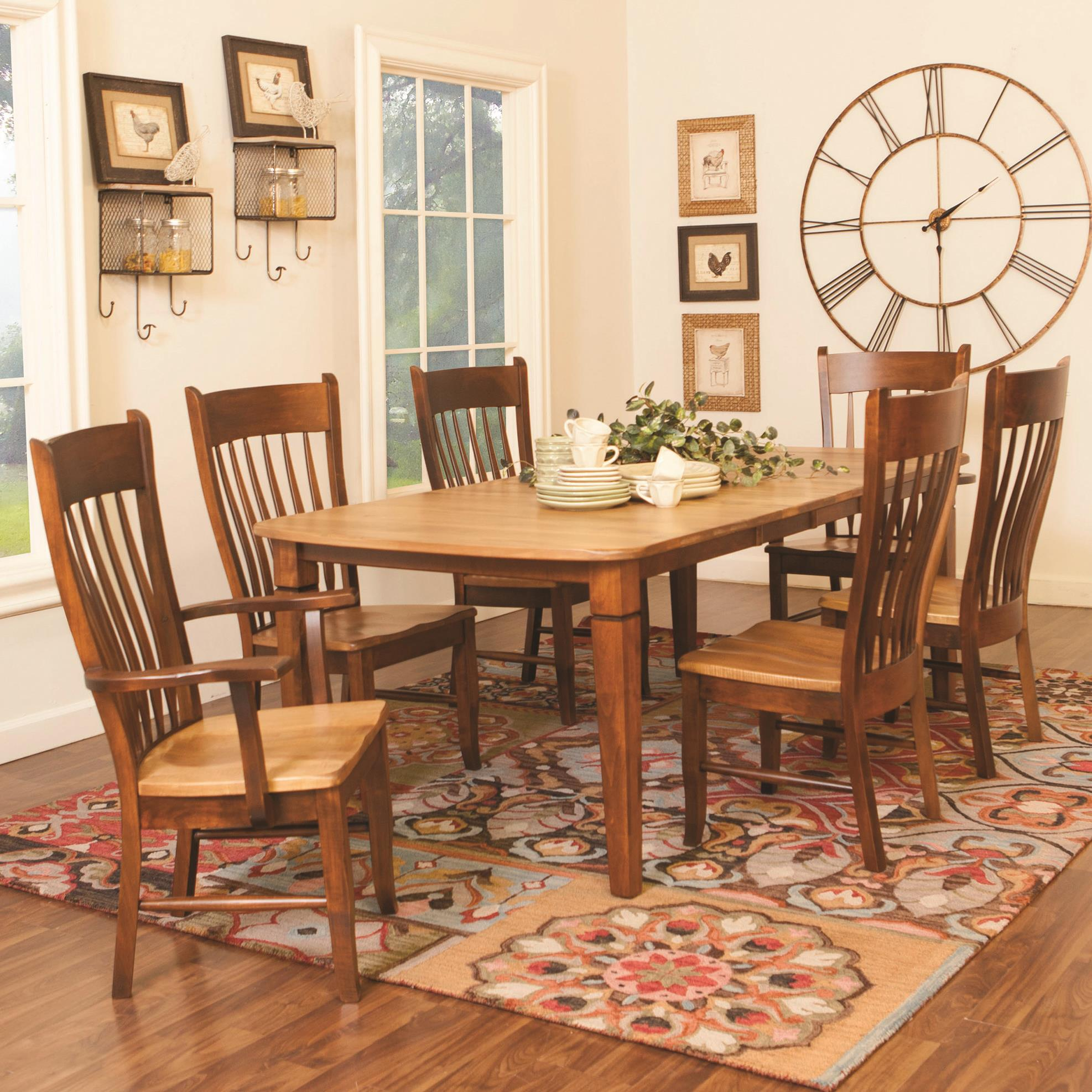 Daniel 39 s amish tables millsdale rectangular dining table for John v schultz dining room table