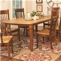 Daniel's Amish Millsdale Millsdale Table - Item Number: 42-722B+T