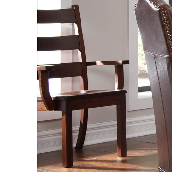 Daniel's Amish Westchester Solid Wood Arm Chair - Item Number: 13-7602-31-102W-102W