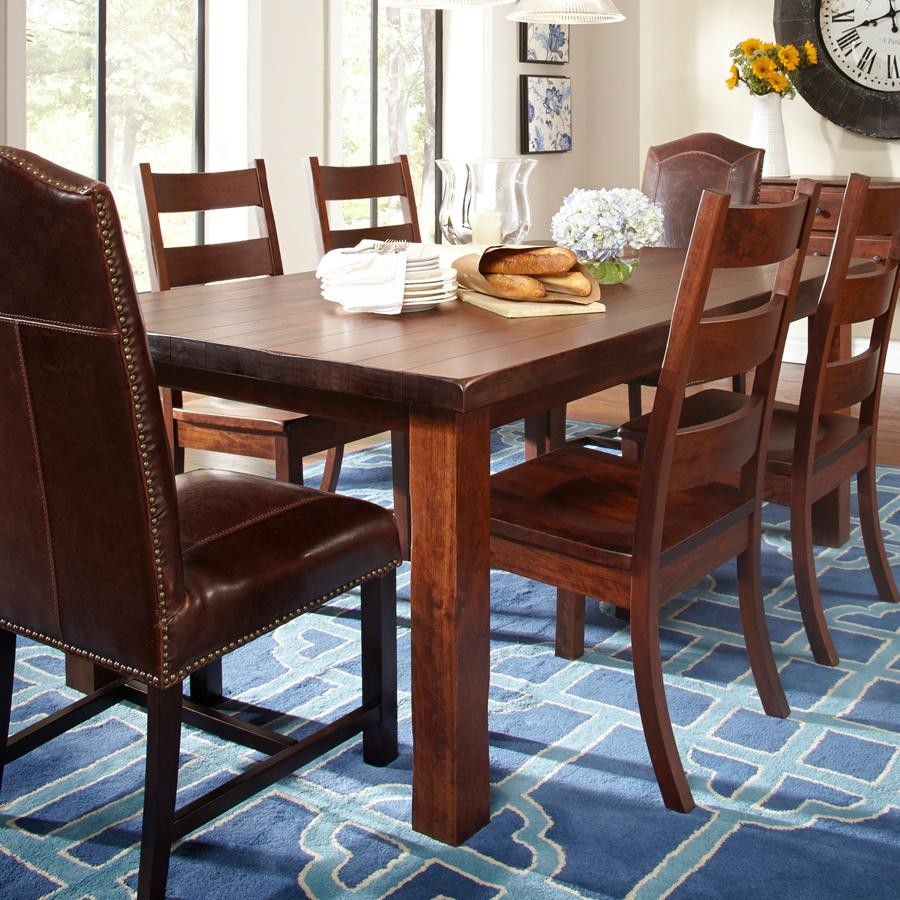 Dining Room Tables: Daniel's Amish Westchester Solid Wood Dining Table