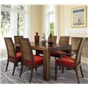 David Francis Furniture Dining Room Stacked Bamboo Dining Chairs