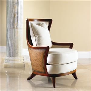David Francis Furniture Lounge Seating Sofia Exposed Wood Lounge Chair