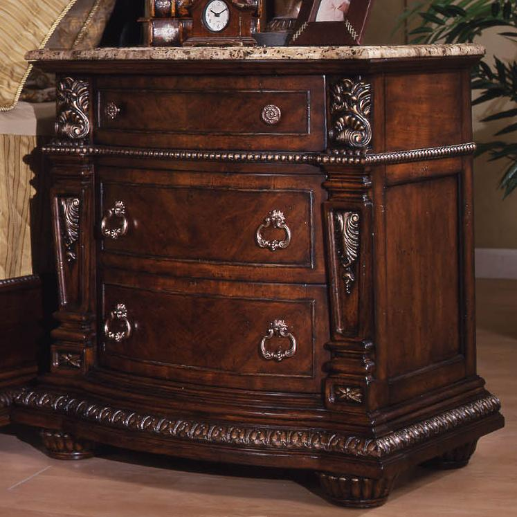Davis Direct Coventry 5146-402 Traditional 3-Drawer Nightstand with ...