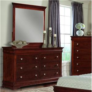 Davis Direct Dupont Dresser & Mirror Combo with 8 Drawers