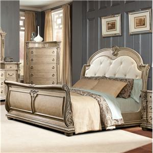 Davis Direct Monaco Queen Sleigh Bed : sleigh bed with canopy - memphite.com