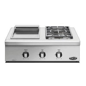 "DCS Drop-In Cooktops 30"" Liberty Griddle/Sideburner Cooktop"