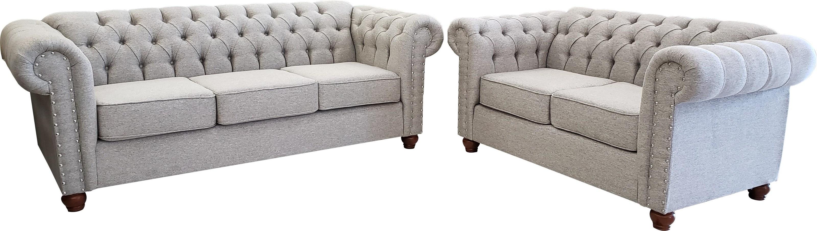 900 2pc Set Madison Silver by Phoenix Custom Furniture at Del Sol Furniture
