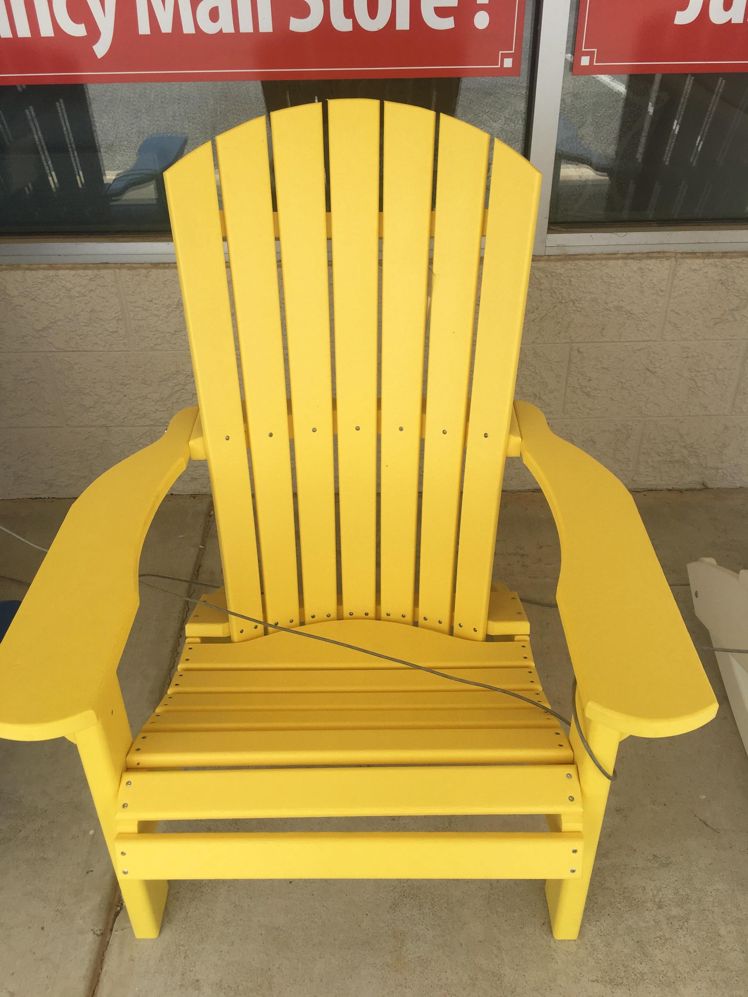 Adirondack Yellow Chair