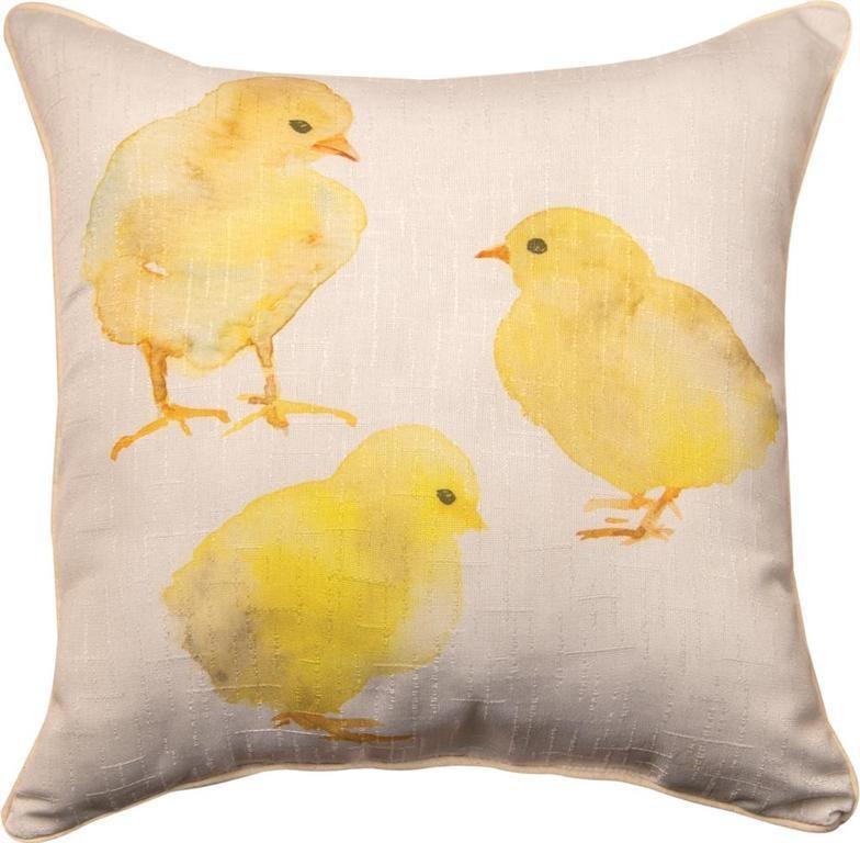 Rotmans Choice Accessories Chick & Burlap Pillow - Item Number: 02-1350SLCKBL