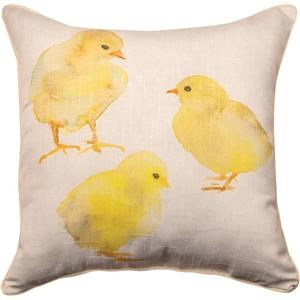 Rotmans Choice Accessories Chick & Burlap Pillow