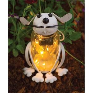 Rotmans Choice Accessories Glass Solar LED Bunny