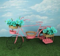 Rotmans Choice Accessories Pink Bicycle Planter - Item Number: 66160