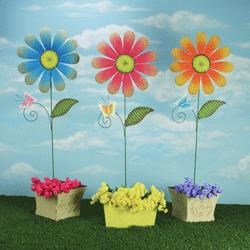 Rotmans Choice Accessories Butterfly Daisy Stake: Assorted Styles - Item Number: 66799
