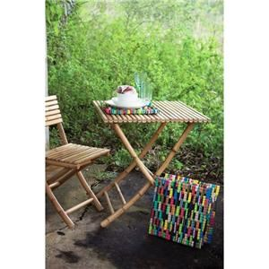 Rotmans Choice Accessories Bamboo Folding Bistro Table