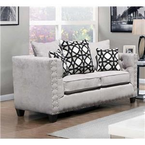 Vintage Grey Love Seat