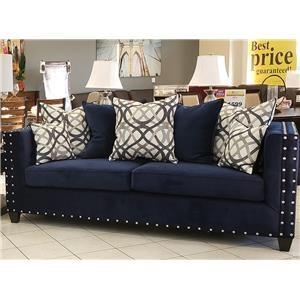HillStreet Navy Sofa