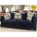 Del Sol Exclusive Bella HillStreet Navy Sofa - Item Number: BELLA-NY-S