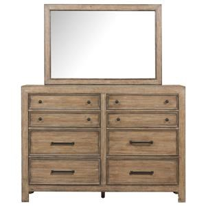 Belfort Select Ivy City 8 Drawer Bureau and Mirror