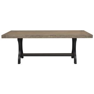 Belfort Select Ivy City Pedestal Dining Table with Cast Metal Base