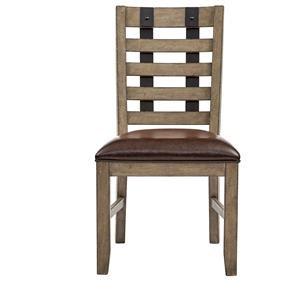 Belfort Select Ivy City Slat Back Metal Strap Side Chair