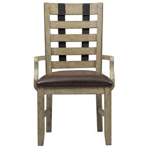 Belfort Select Ivy City Metal Strap Arm Chair